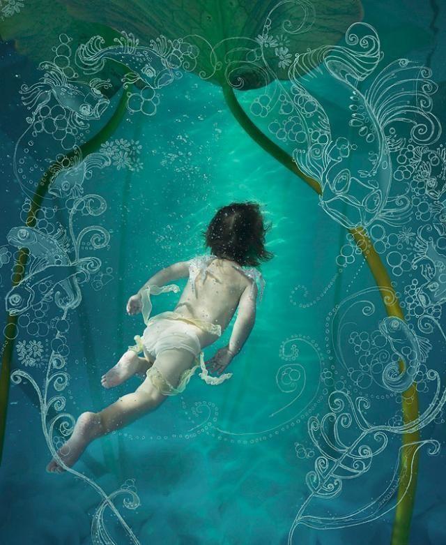 《夏日戏水》 - 空山鸟语 - 月滿江南