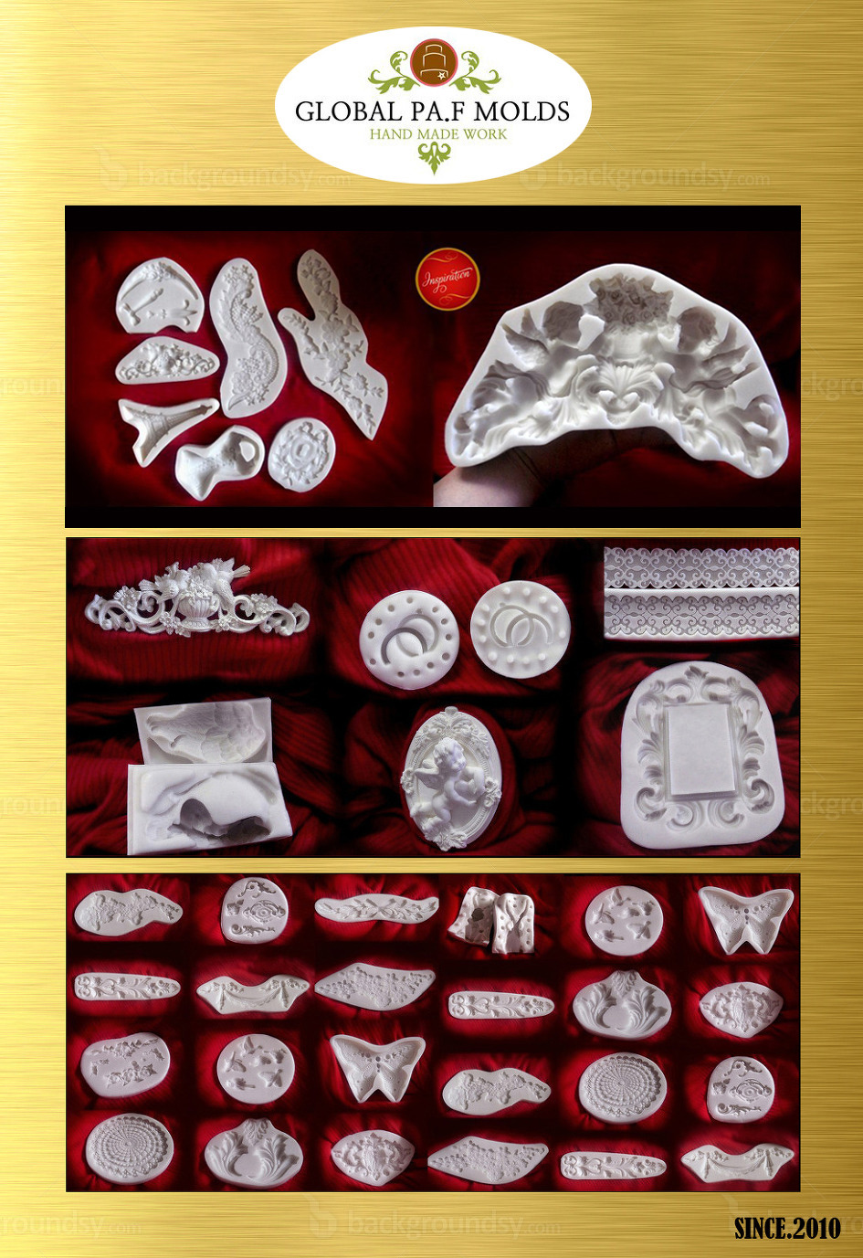 Cake Decorating Silicone Molds Uk : Handmade Silicone Mold / Cake Decoration Mould/lego mold 987