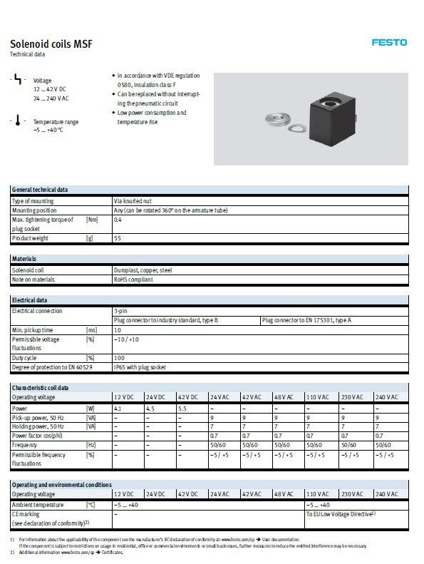 솔레노이드밸브 Solenoid Valve MSFW-230AC 훼스토(FESTO) 제조업체의 해외직구