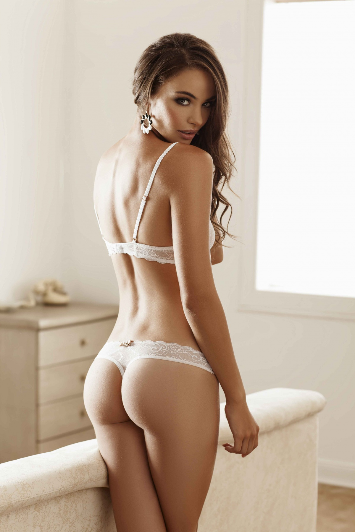 hot lingerie curved woman